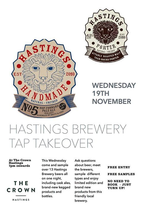 Poster for Hastings Brewery Tap Takeover