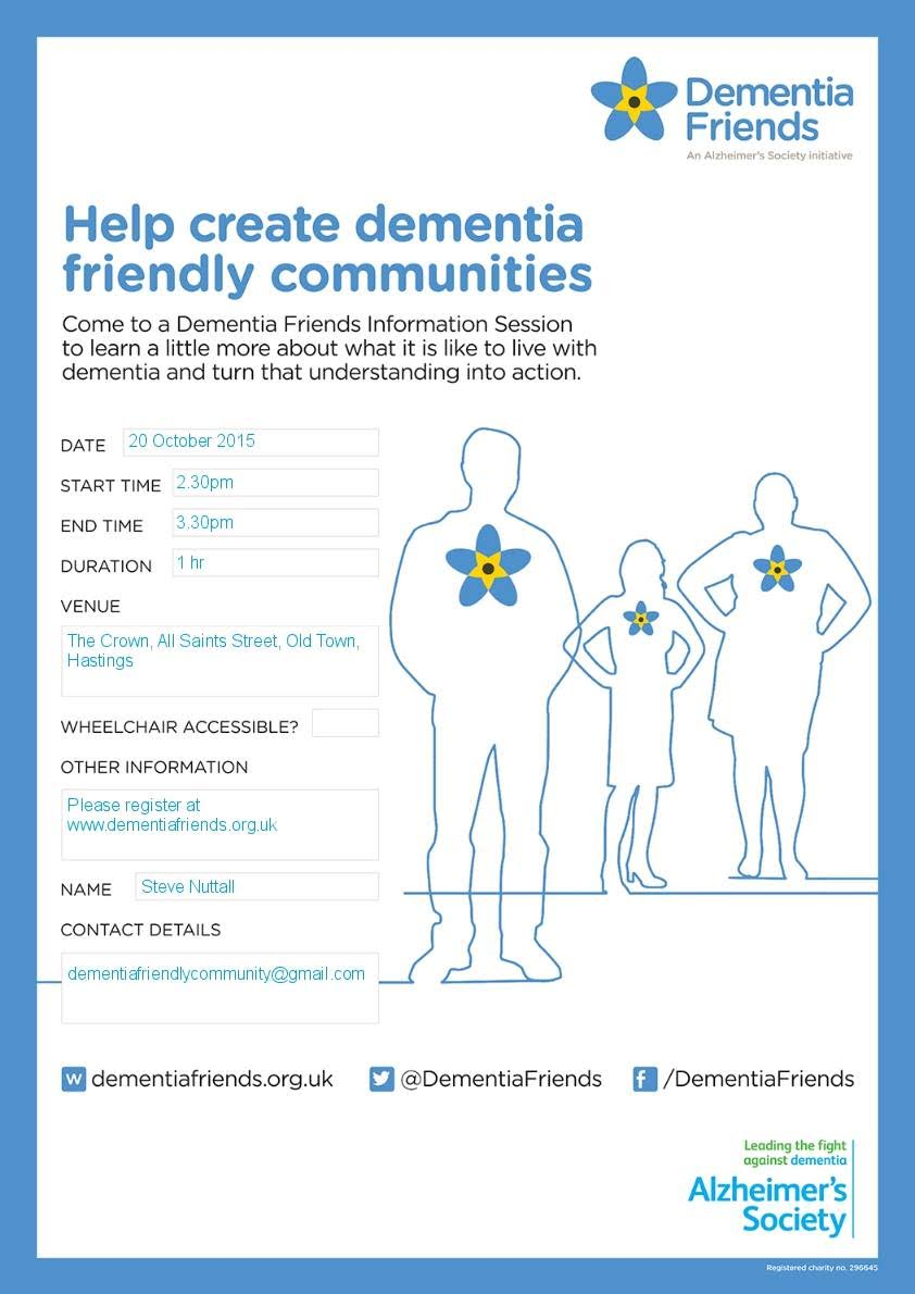 Poster for Dementia Friends Information Session