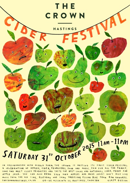 Poster for Cider Festival at The Crown