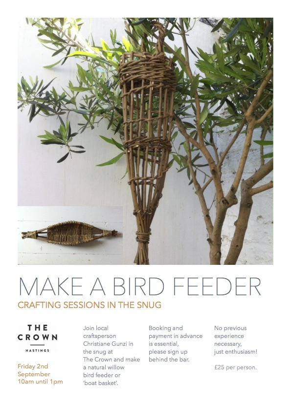 Poster for Crafting Sessions in the Snug: Make a Bird Feeder