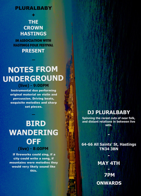 Poster for Pluralbaby presents Folk Festival at The Crown, Hastings