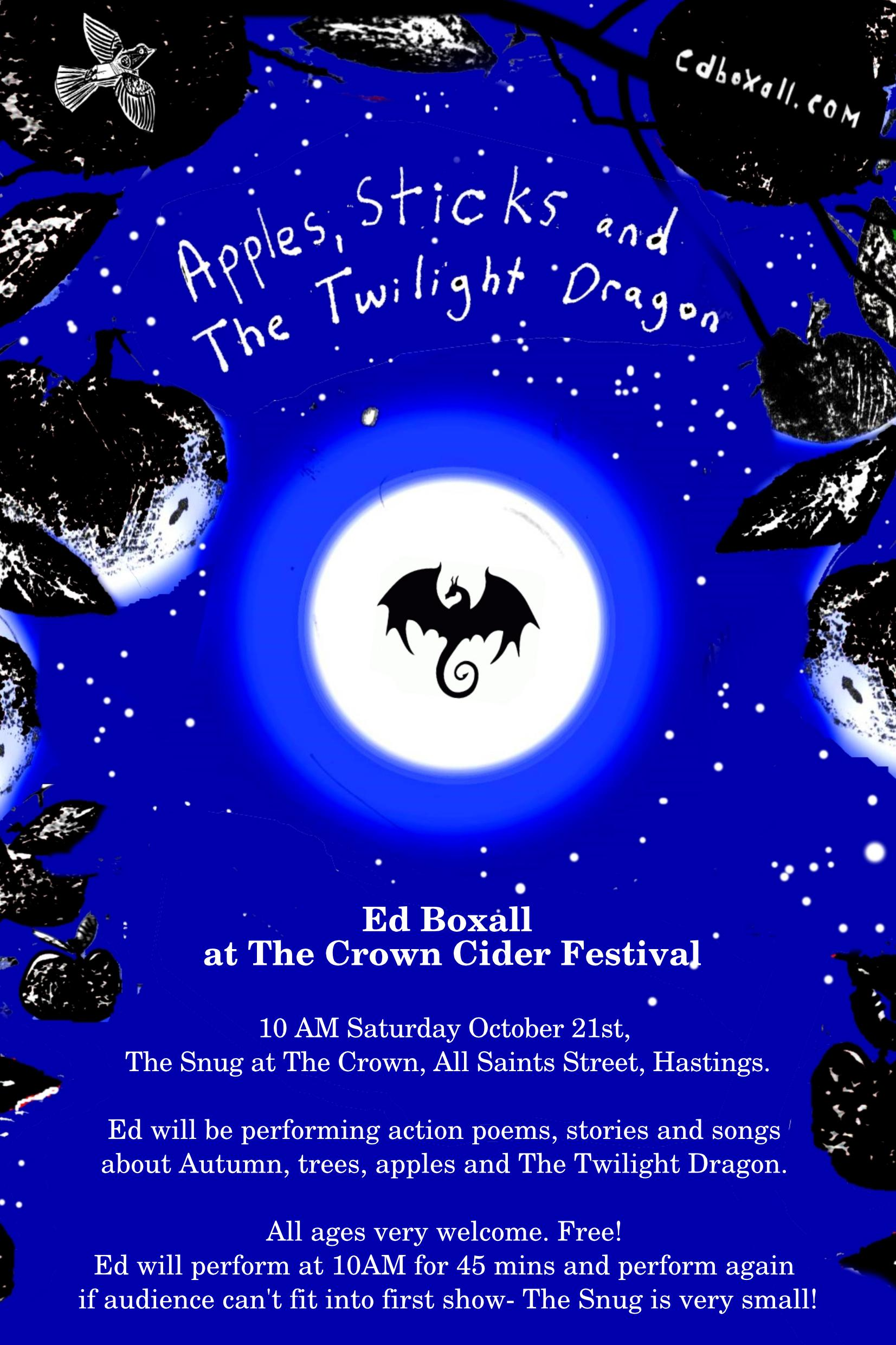 Poster for Ed Boxall: Apples, Sticks and The Twilight Dragon