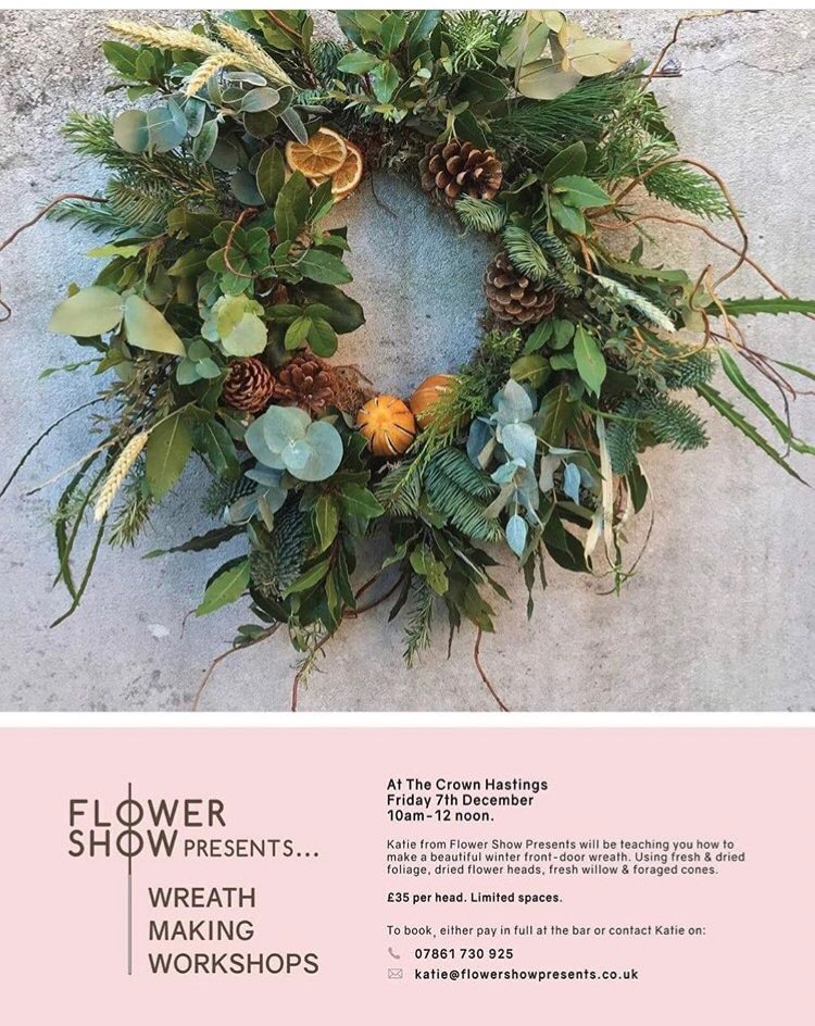 Poster for Flower Show Presents: Wreath Making Workshop