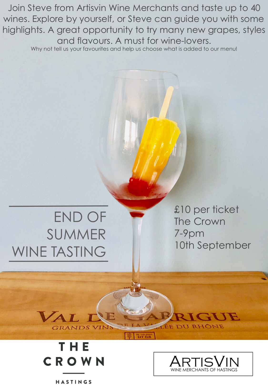 Poster for End of Summer Wine Tasting