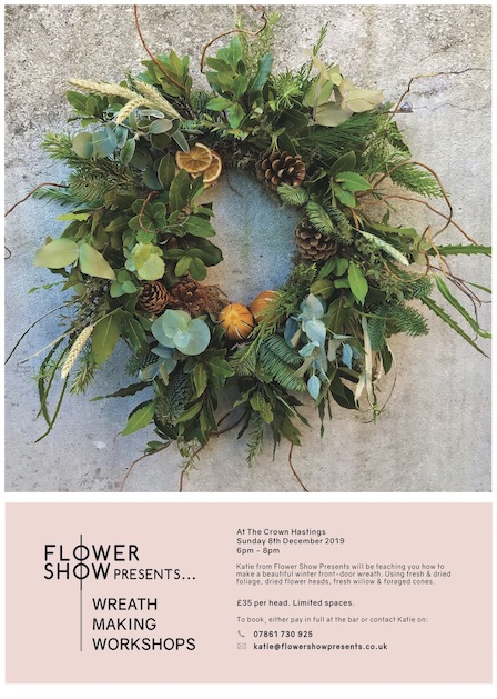 Poster for Flower Show Presents: Wreath Making Workshops